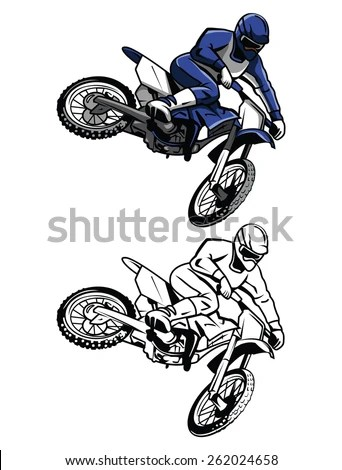 Motocross Bike Stock Images, Royalty-Free Images & Vectors