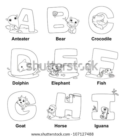 Colorful Alphabet Letters Stock Images, Royalty-Free