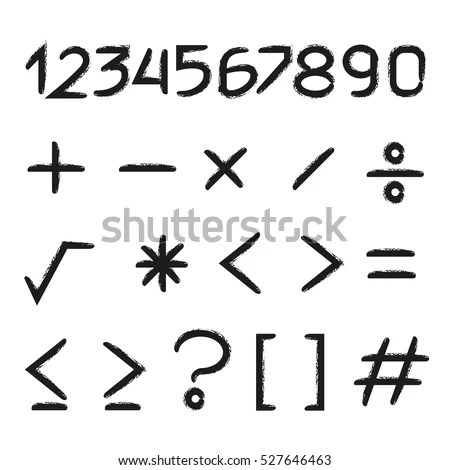 Math Symbol Stock Images, Royalty-Free Images & Vectors