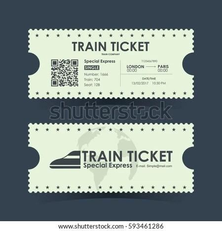 Train Ticket Vintage Concept Design Vector Stock Vector 593461286 Shutterstock