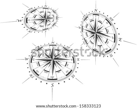 Compass Graphic Stock Images, Royalty-Free Images