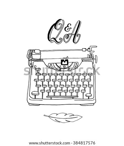 Vector Collection Hand Drawn Writing Tools Stock Vector
