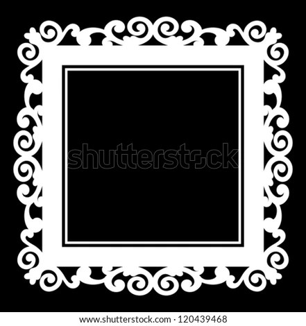 Decorative Silhouette Frame Fl Elements Decoration Stock