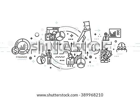 Doodle Vector Illustration Lead Generation Sales Stock