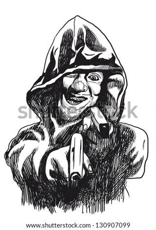 Psycho Killer Picture On Theme Underground Stock
