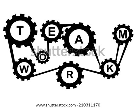 Black And White Cartoon People Teamwork Pictures to Pin on