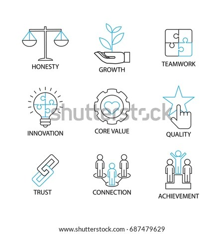 Modern Thin Line Icon Pictogram Business Stock Vector