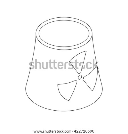 Atomic Power Station Radiation Sign Icon Stock Vector