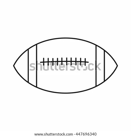 American Football Rugby Ball Sport Club Stock Vector