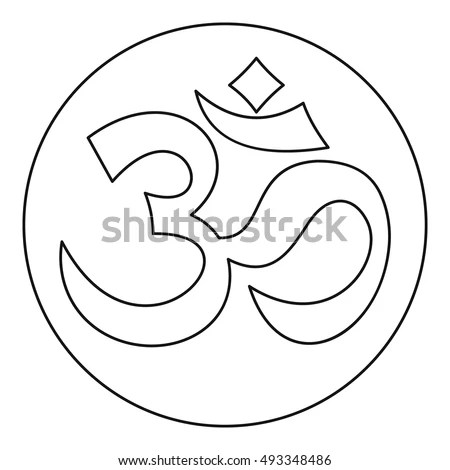 Om Sign Icon Outline Style On Stock Vector 493348486