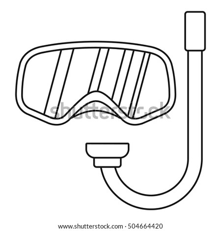 Swimming Goggles Coloring Page Sketch Coloring Page