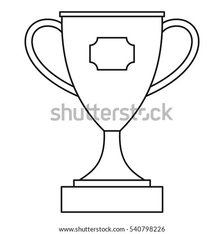 Trophy Cup Award Icon Outline Illustration Stock Vector