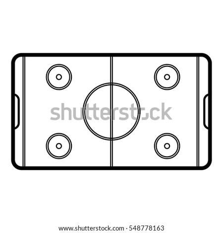 Field Hockey Icon Outline Illustration Field Stock Vector