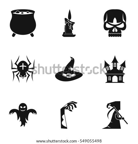Halloween Icons Set 2 Blackwhite Including Stock Vector