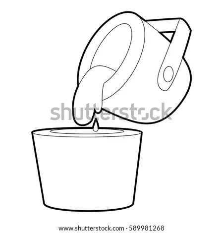 Liquid Metal Icon Cartoon Illustration Liquid Stock