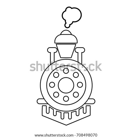 Steam Train Silhouette Stock Images, Royalty-Free Images