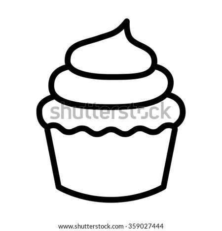 Delicious Cupcake Sweet Isolated Icon Vector Stock Vector