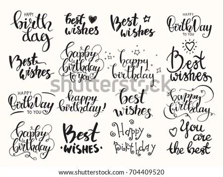 Happy Birthday Letter Freehand Vector Stock Vector