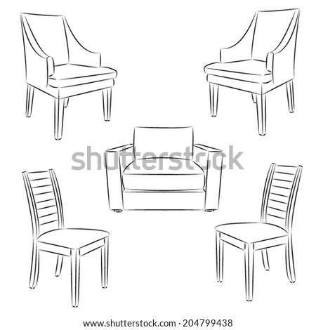 Chairs Drawings Stock Images, Royalty-Free Images