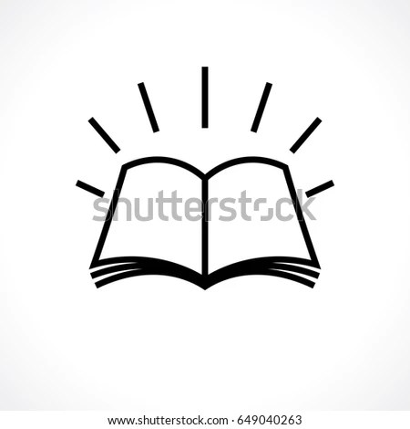 Open Book Knowledge Symbol Template Logo Stock Vector