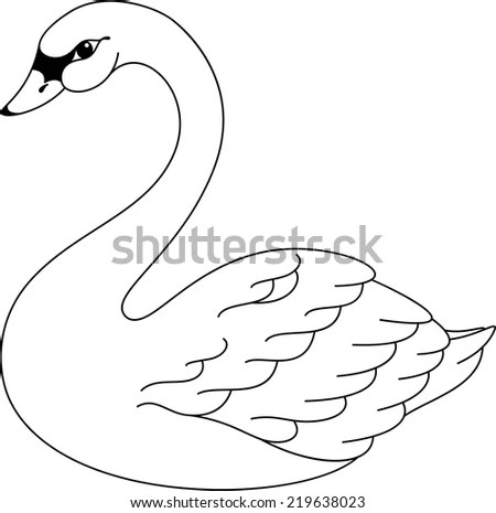 Swan Cartoon Stock Images, Royalty-Free Images & Vectors