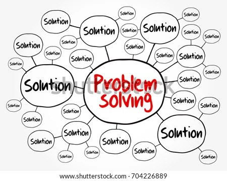 Problem Solving Aid Mind Map Flowchart Stock Vector