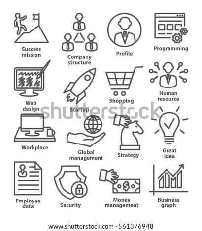 Set Internet Services Icons Part 1 Stock Vector 128072648