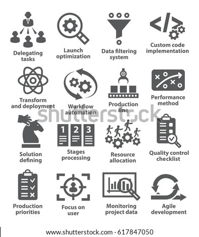 Product Management Icons Stock Vector (Royalty Free