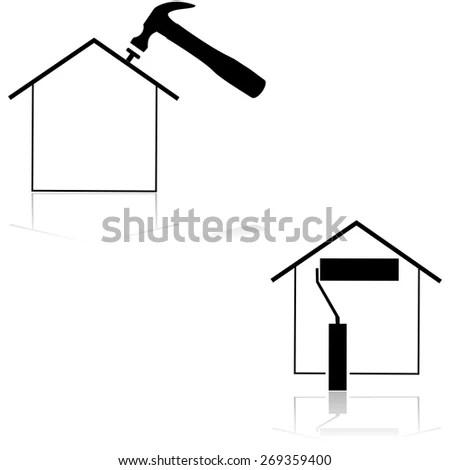 Vector Illustration Ussr Hammer Sickle Inside Stock Vector