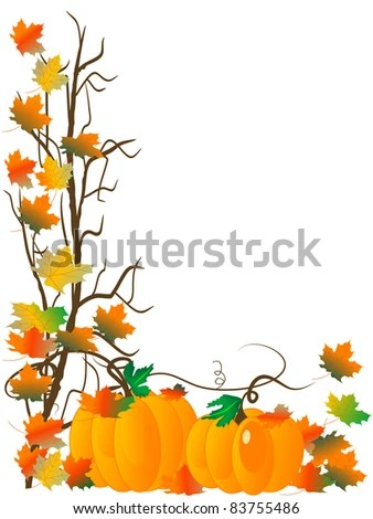 pumpkin border stock royalty-free