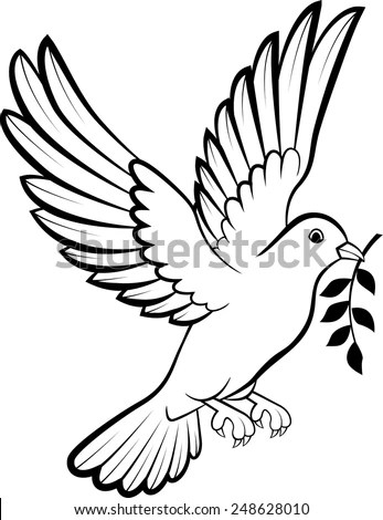 Dove birds logo for peace concept and wedding design
