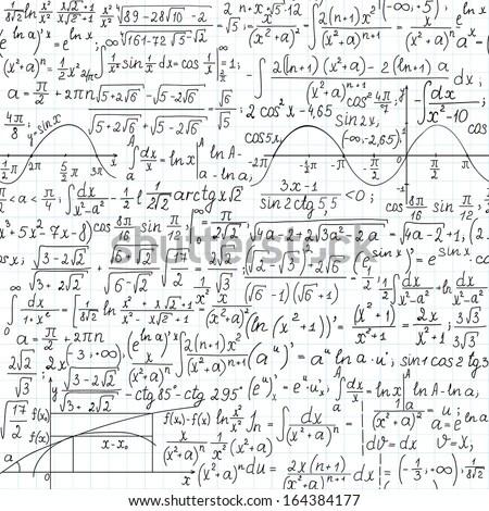 Mathematical Blackboard Equation Stock Images, Royalty
