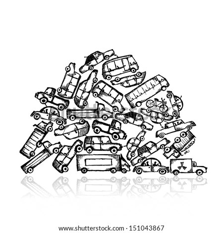 Pile Of Cars Stock Images, Royalty-Free Images & Vectors