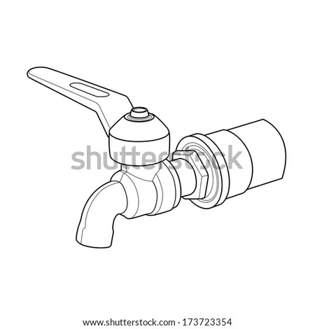 Vector Outline Angle Electric Grinder On Stock Vector