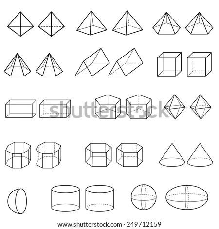 3d Geometric Shapes Vector Stock Vector 249712159