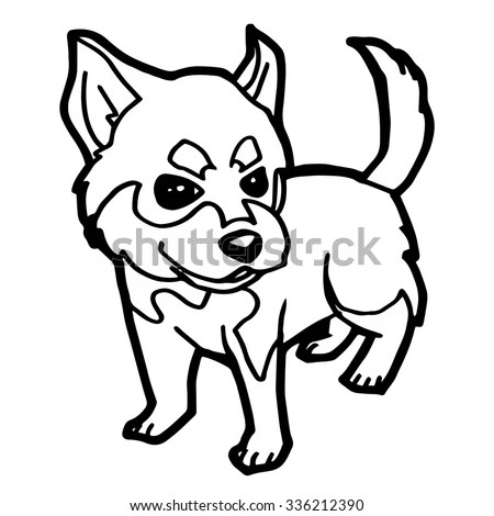 Grey Cartoon Angry Bulldog On White Stock Vector 271945229