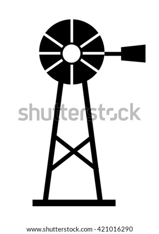 Silhouette Ventilator Blower Cooler Blowhole Stock Vector