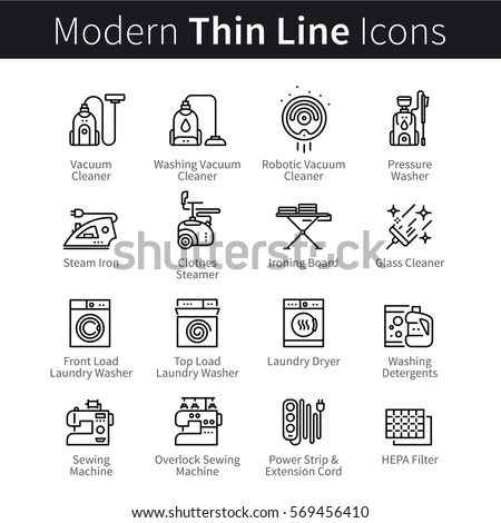 Modern Thin Line Icons Set Tourism Stock Vector 341036630