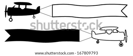 Airplane Banner Stock Images, Royalty-Free Images