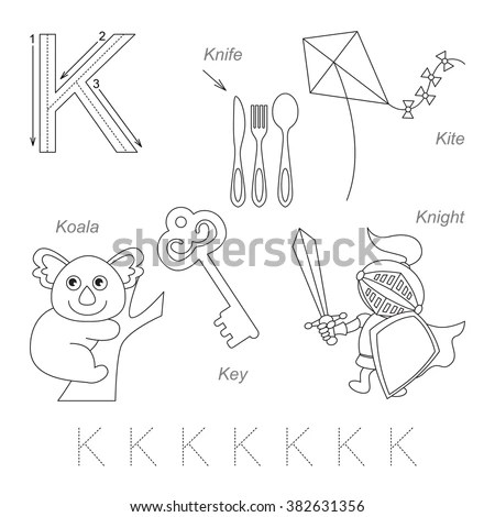 Tracing Worksheet Children Full English Alphabet Stock