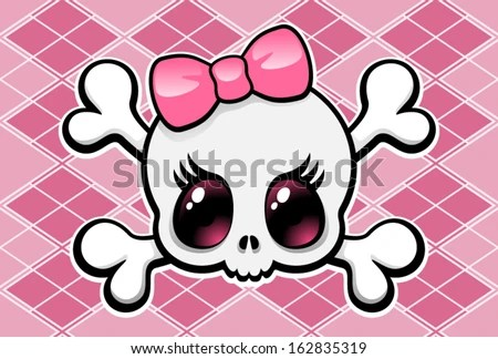 Free Download Emo Girl Wallpapers For Mobile Cute Girly Skull Pink Bow Vector Stock Vector Royalty
