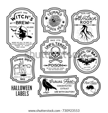 Black And White Harry Potter Potion Labels Pictures to Pin