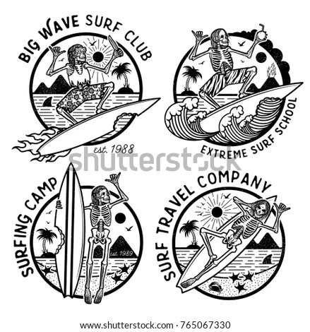Surfing Logo Stock Images, Royalty-Free Images & Vectors