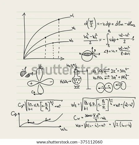 Aerodynamics Law Theory Physics Mathematical Formula Stock