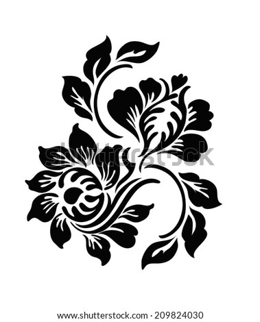 Flower Motif Stock Images, Royalty-Free Images & Vectors