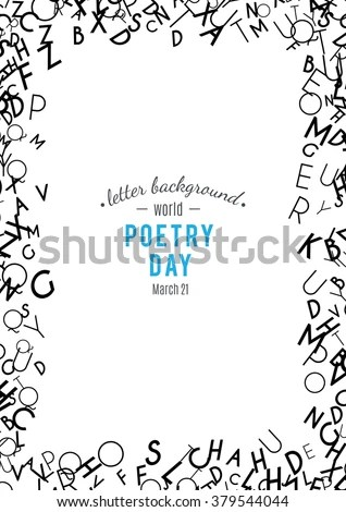 Set Random Letters Patterns Abstract Background Stock