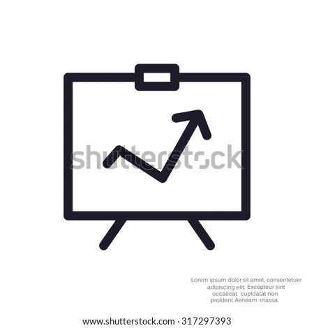 Presentation Icon Stock Images, Royalty-Free Images