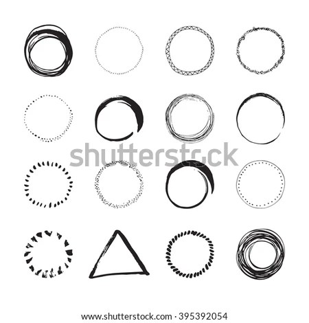 Set 12 Circular Empty Frames Logo Stock Vector 415768813