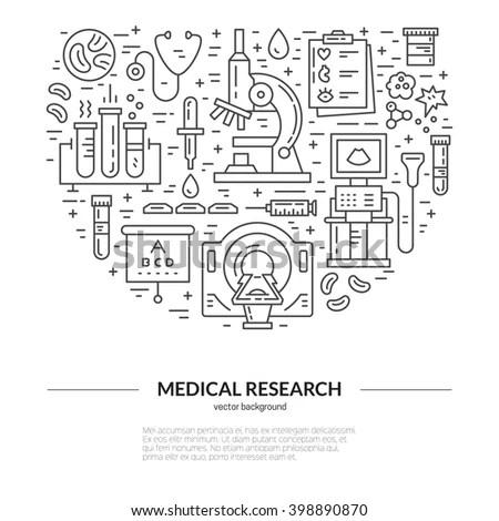 Unique Medical Illustration Mri Scan Microscope Stock