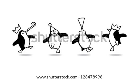 Dancing Penguins Stock Images, Royalty-Free Images